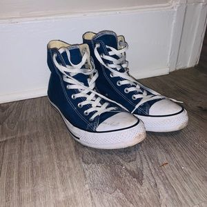 Lightly used blue converse size 10